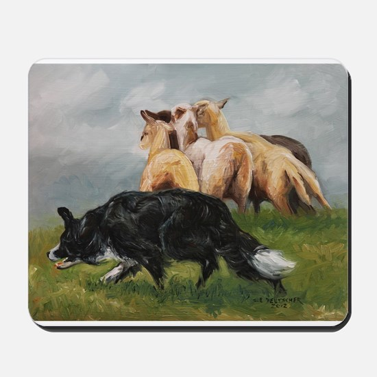 Border Collie and Sheep Mousepad