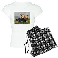 Border Collie and Sheep Pajamas