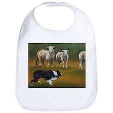 Border Collie and Sheep Bib