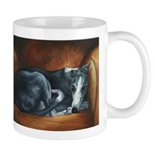 Whippet on Chair Mug