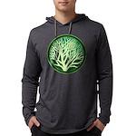 treecircle_green.png Mens Hooded Shirt