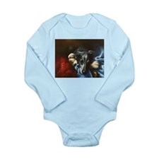 Whippet and Toy Long Sleeve Infant Bodysuit