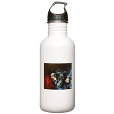 Whippet and Toy Water Bottle