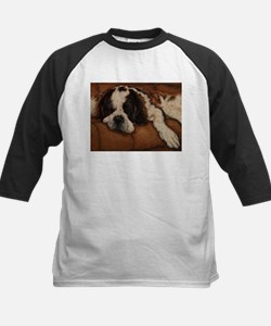 Saint Bernard Sleeping Kids Baseball Jersey