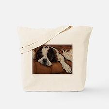 Saint Bernard Sleeping Tote Bag
