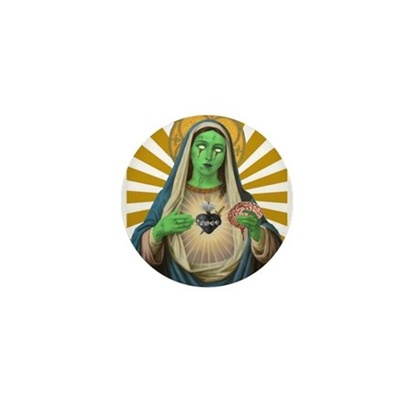 Virgin Mary Zombie Mini Button (10 pack)