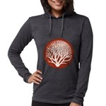 treecircle_red.png Womens Hooded Shirt