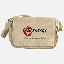 Raw Energy Pro-Vegan Messenger Bag