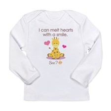 Melting hearts with a smile baby shirt Long Sleeve
