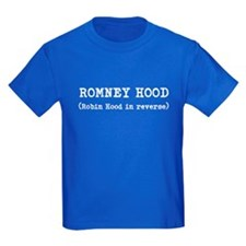ROMNEY HOOD (Robin Hood in reverse) T