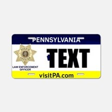 Pennsylvania Police Officer Custom License Plate