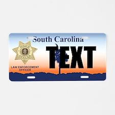 South Carolina Police Officer Custom License Plate