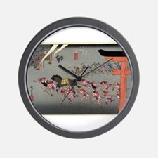 Miya - Hiroshige Ando - 1833 Wall Clock