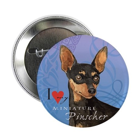 "Miniature Pinscher 2.25"" Button"