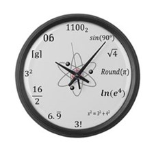Large Sheldon Cooper Maths Wall Clock