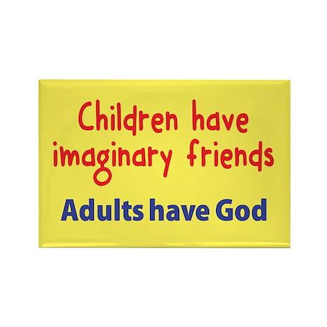 Children Have Imaginary Friends Rectangle Magnet (