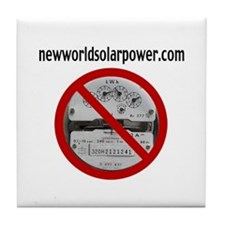 Just Say No to Electric Meters Tile Coaster