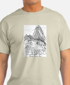 Machu Picchu Sketch T-Shirt / Blue & Grey also