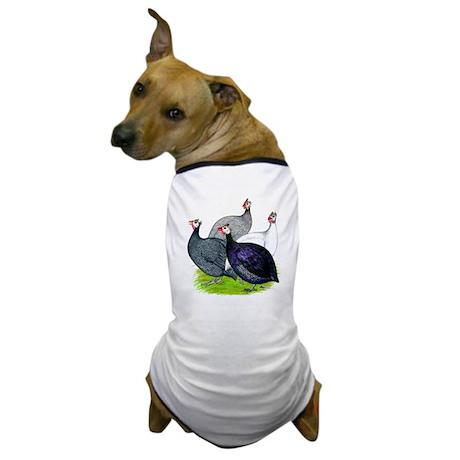 Four Guineafowl Dog T-Shirt
