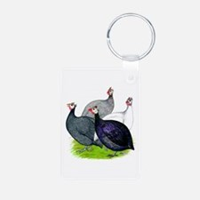 Four Guineafowl Keychains