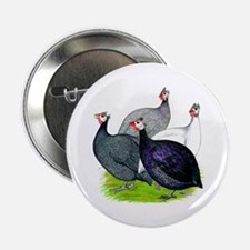 "Four Guineafowl 2.25"" Button"