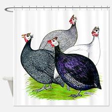 Four Guineafowl Shower Curtain