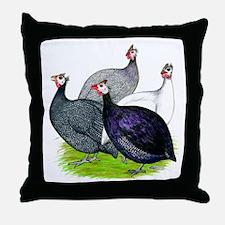 Four Guineafowl Throw Pillow