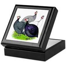 Four Guineafowl Keepsake Box