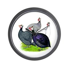 Four Guineafowl Wall Clock