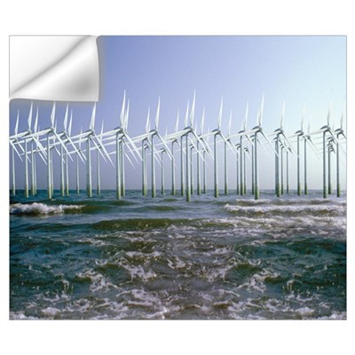Wind turbines Wall Decal