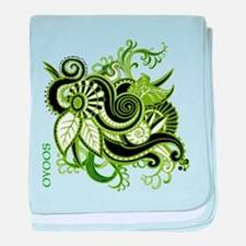 OYOOS Green Flower design baby blanket