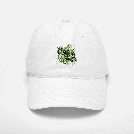 OYOOS Green Flower design Baseball Baseball Cap