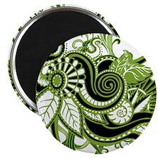 "OYOOS Green Flower design 2.25"" Magnet (100 pack)"