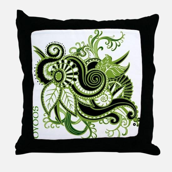 OYOOS Green Flower design Throw Pillow