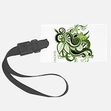 OYOOS Green Flower design Luggage Tag
