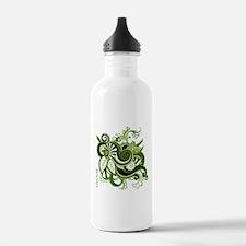 OYOOS Green Flower design Water Bottle