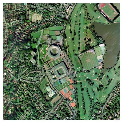 Wimbledon tennis complex, UK Poster