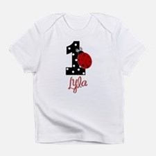 1 Ladybug LYLA - Custom Birthday Infant T-Shirt