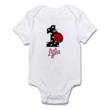 1 Ladybug LYLA - Custom Birthday Infant Bodysuit