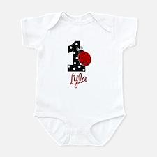 1 Ladybug LYLA - Custom Birthday Infant Bodysuit