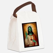 Zombie Jesus Loves Brains Canvas Lunch Bag