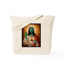 Zombie Jesus Loves Brains Tote Bag