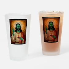 Zombie Jesus Loves Brains Drinking Glass