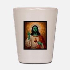 Zombie Jesus Loves Brains Shot Glass