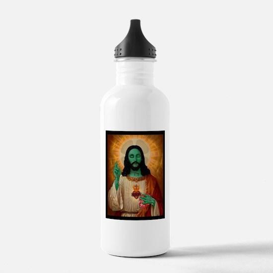 Zombie Jesus Loves Brains Water Bottle