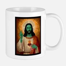 Zombie Jesus Loves Brains Mug
