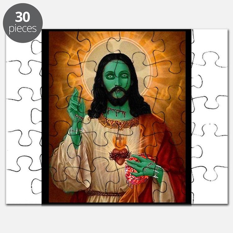 Zombie Jesus Loves Brains Puzzle