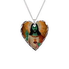 Zombie Jesus Loves Brains Necklace
