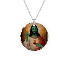 Zombie Jesus Loves Brains Necklace