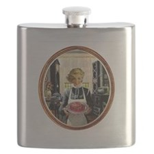 Zombie Housewife Serves Brains Flask
